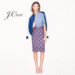 J. Crew No. 2 Pencil Skirt in Medallion Paisley 2
